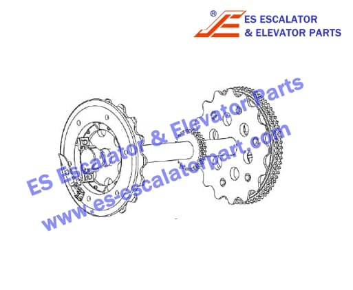 XIZIOTIS XAA26170T4 Upper station main shaft with auxiliary brake