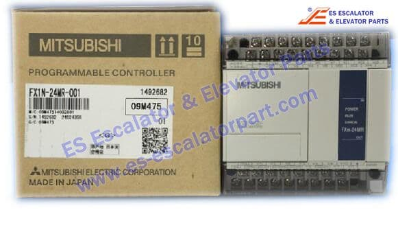 MITSUBISH PROGRAMMABLE CONTROLLER FX1N-24MR-001