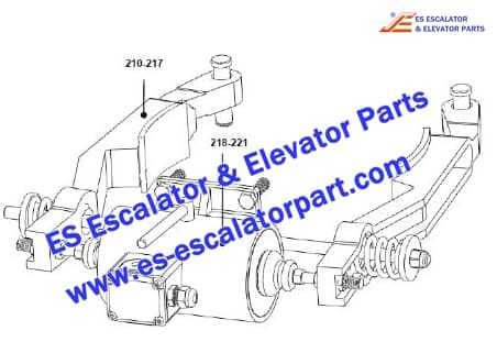ESOTIS Escalator XAA20400E677 Brake Lever