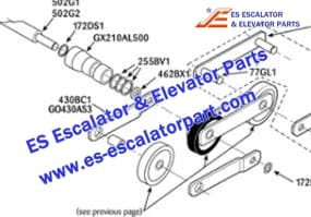 ESOTIS Escalator 255BV1 Step chain axle ring