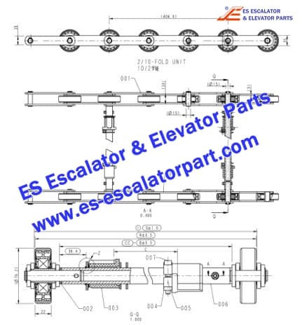 ESOTIS  Escalator Parts Step Chain