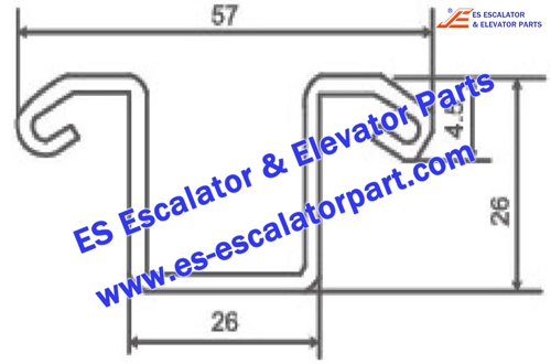OTIS Escalator Parts Xaa50bb Guide