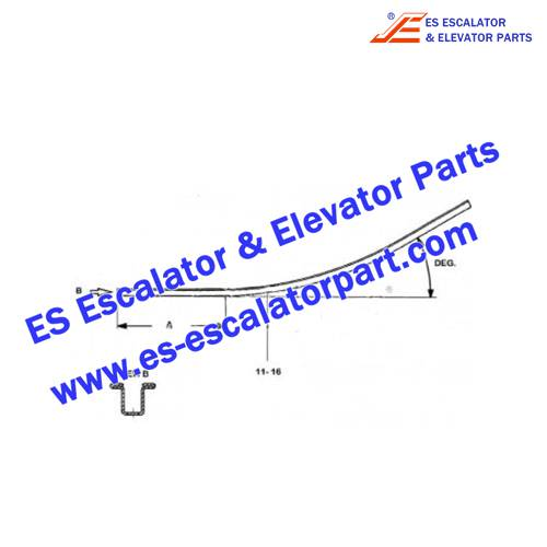 OTIS Escalator Parts GAA402BRN2 Handrail guide