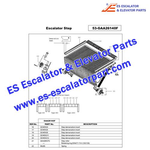 OTIS Escalator Parts GO455G4 Step Demarcation NEW